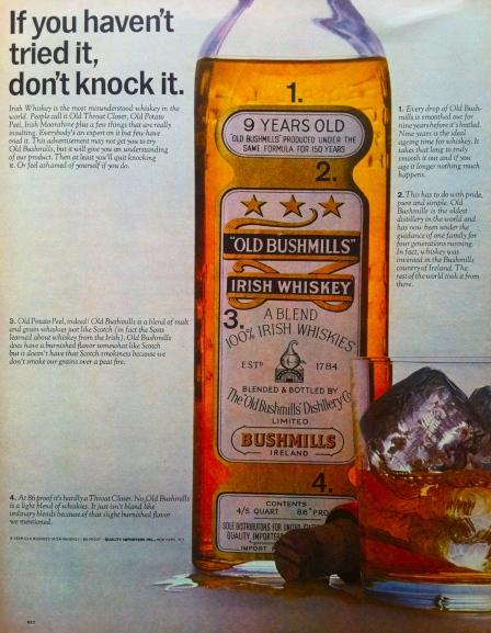 1964 Bushmills ad