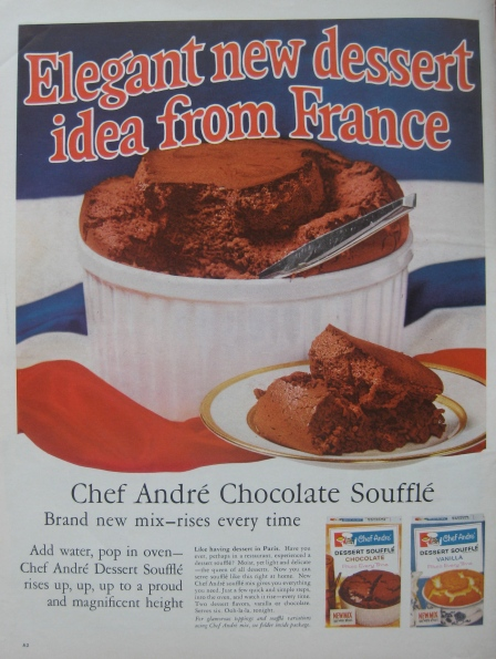 Chef Andre Chocolate Souffle Mix Ad, Life Magazine 1962