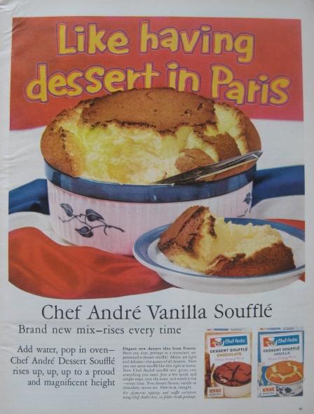 Chef Andre Vanilla Souffle Mix Ad, Life Magazine, 1962