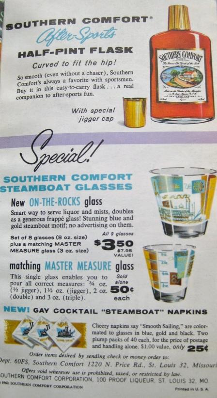 SC Hip Flask & Steamboat glasses